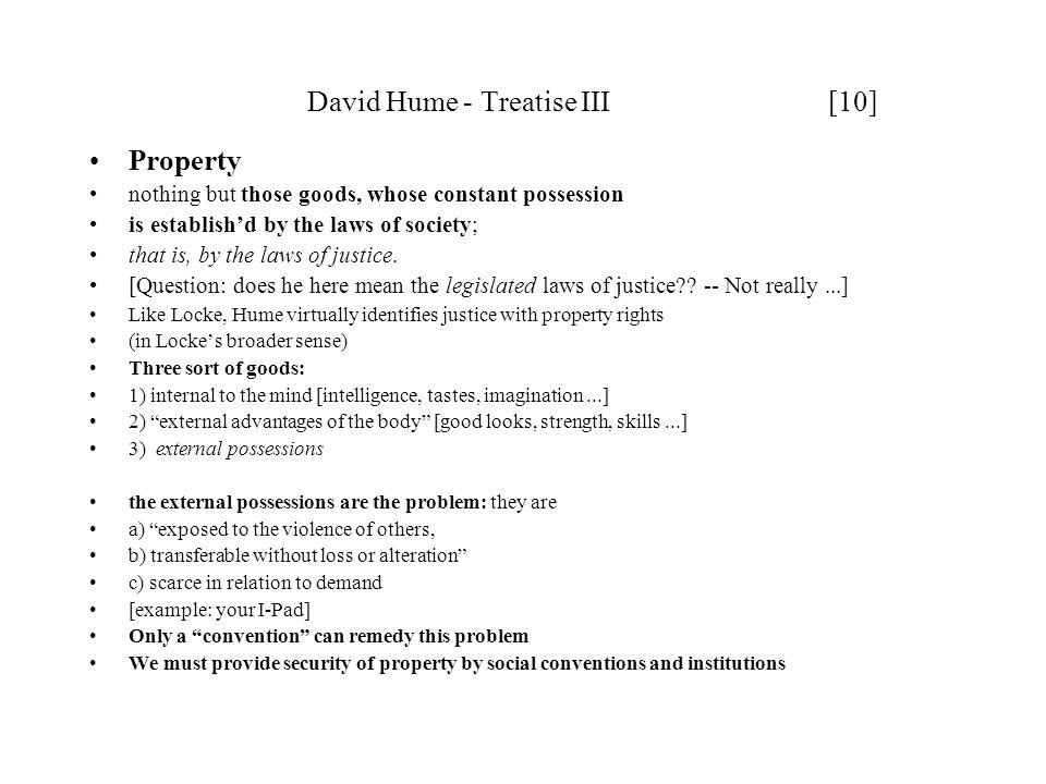 David Hume - Treatise III [10]